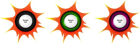 Vector of icon for price bomb  Place for customer text Stock Photo - 12763976