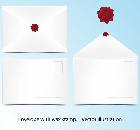 Vector illustration of B6 envelope  Background in separate layer  illustration