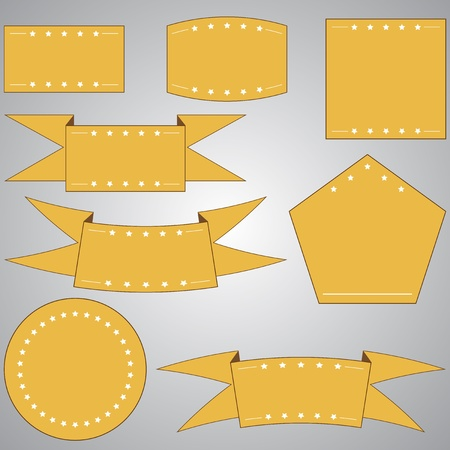 Set of vector elements for web - ribbons photo