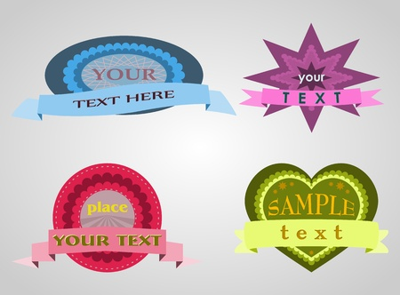 illustration of four shapes  Background in separate layer  Stock Illustration - 13103144