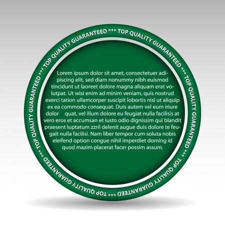 description: illustration of element for quality description  Background in separate layer
