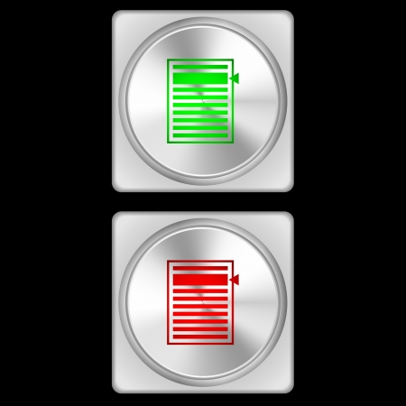 illustration of list overview buttons in two stages - green and red  Reklamní fotografie