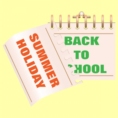 illustration of Back to school calendar  End of holiday  Start of school  illustration
