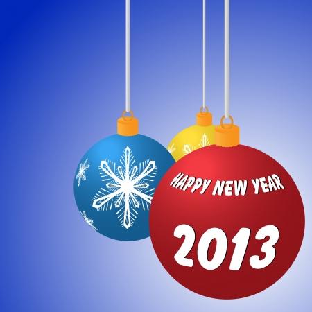 illustration of Happy New Year balls Stock Illustration - 15345361
