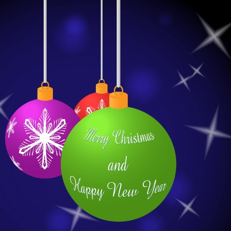 Vector background of Merry Christmas balls Stock Photo - 16029270