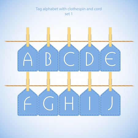 Blue alphabet set vol 1 - illustration illustration
