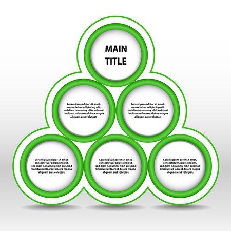 corporate greed: illustration of green progress pyramid - place for custom text Stock Photo