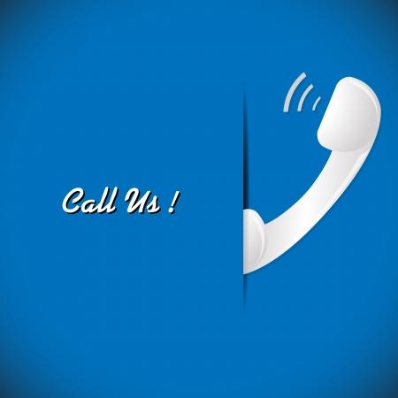 illustration of telephone on the blue background illustration