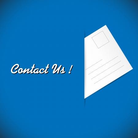 illustration of envelope on the blue background illustration