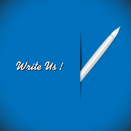 illustration of pen on the blue background Stock Illustration - 18688019