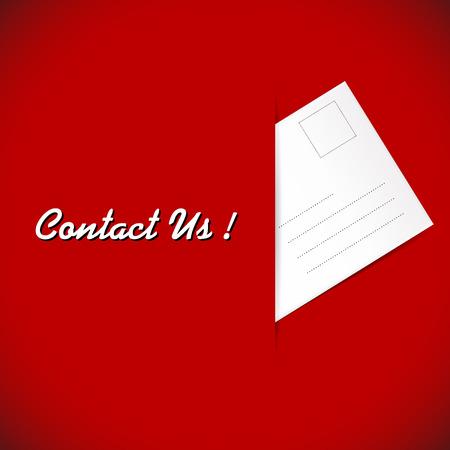 illustration of envelope on the red background illustration