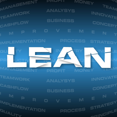productive: illustration of abstract background with heading Lean