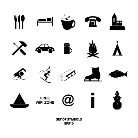 Vector illustration of set of symbols illustration