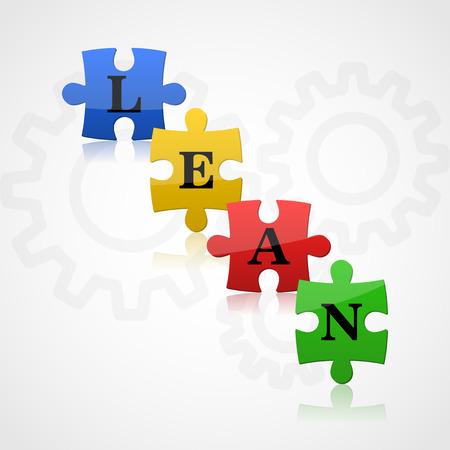 input output: Puzzle - lean theme Stock Photo