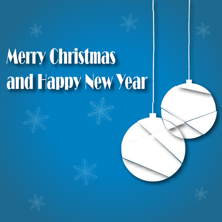 Illustration of Merry Christmas and Happy New Year greetings background illustration