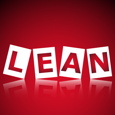 heading: illustration of abstract background with heading Lean. Lean is modern strategy of companies about higher productivity. Illustration