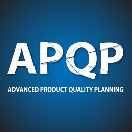 norm: Vector illustration of APQP framework. Illustration
