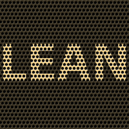 kaizen: Abstract vector background with title Lean. Lean is modern program of productivity usually used in manufacturing. Illustration
