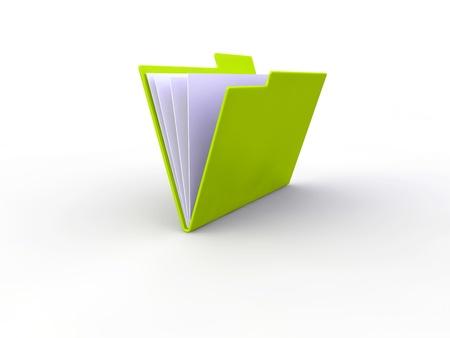 manuals: Office folder 3d illustration