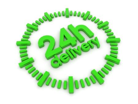 24h: 24h delivery 3d render illustration