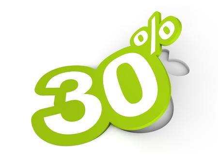 Percent sticker 3d render illustration Stock Photo
