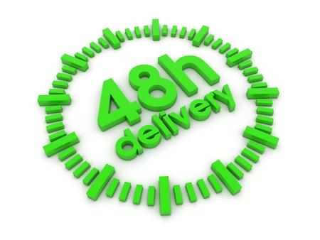 48h delivery 3d render illustration illustration