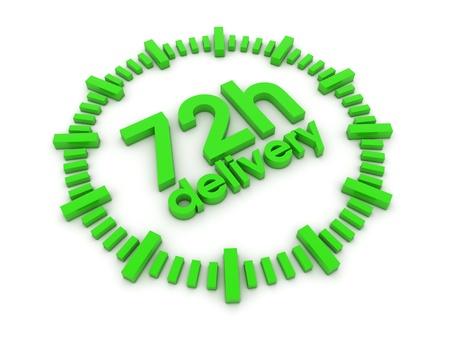 72h delivery 3d render illustration illustration