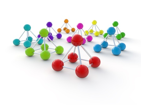 isolated molecule 3d render illustration Stock Illustration - 10035300