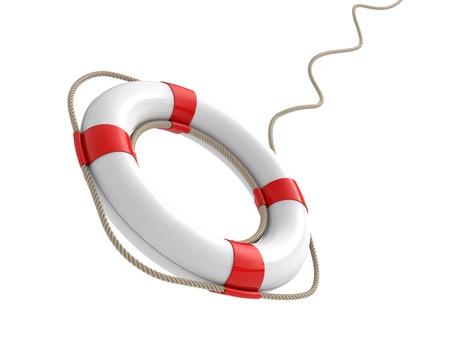 lifesaving: lifebelt 3d render illustration