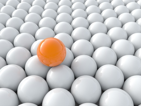 Individuality balls 3d render illustration illustration
