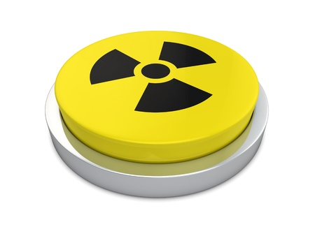 Nuclear Sign isolated on white background  photo