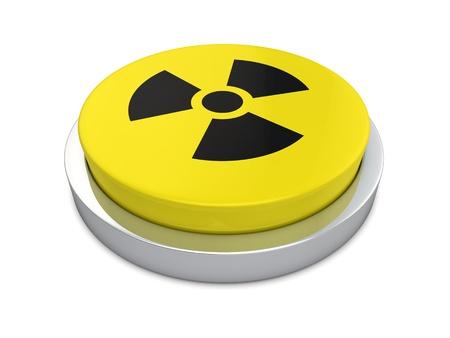 radiacion: Regístrate nucleares aisladas sobre fondo blanco
