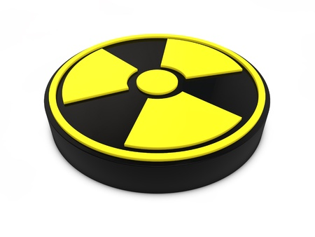 Nuclear Sign isolated on white background Stock Photo - 10035291