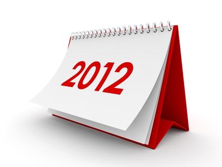 almanac: Blank paper calendar 3d render