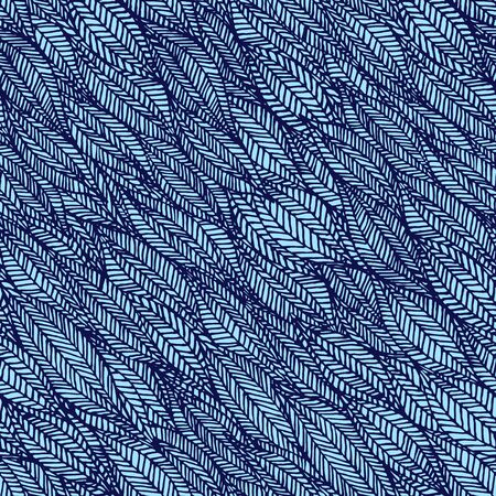 Abstract Seamless Pattern in blue colors. Vector wrapping backdrop of waves for packaging design. Иллюстрация