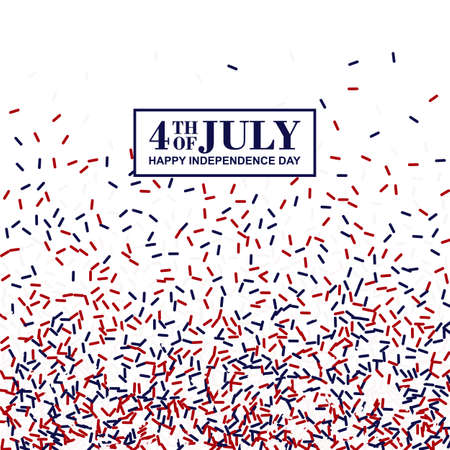 4th of July poster. Independence Day conception in traditional American colors - red, white, blue.