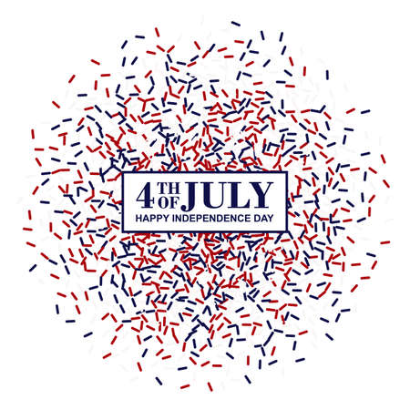 4th of July banner. Independence Day conception in traditional American colors - red, white, blue.