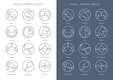 Zodiac Symbols vector icon design