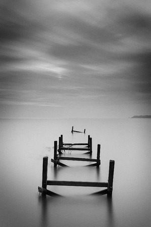 long exposure abandoned jetty