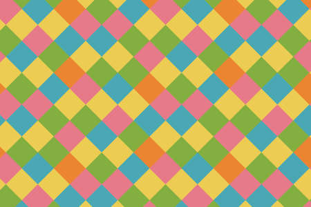 Vector background - geometric pattern of multicolored rhombuses in pastel colors