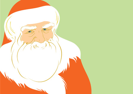 one year old: Vector ilustration of Father Christmas, EPS 8