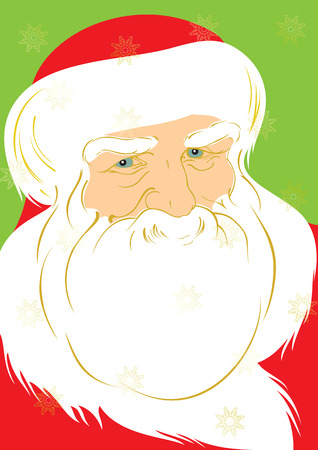 one year old: Ilustration of Father Christmas