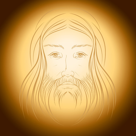aureola: Jesus Christ illustration vector eps 8 Illustration