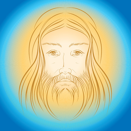 Jesus Christ illustration vector eps 8 Illustration