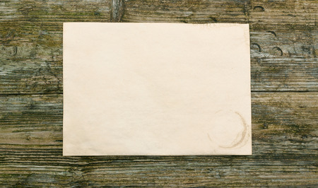 paper empty  blank wooden background old textured