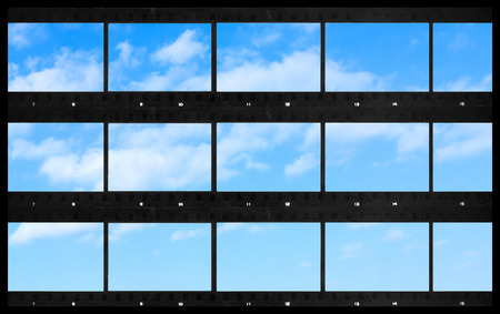 contact  sheets  blank film photography print panoramic sky background