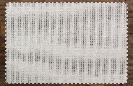 table cloth torn edge canvas napkin wooden Standard-Bild