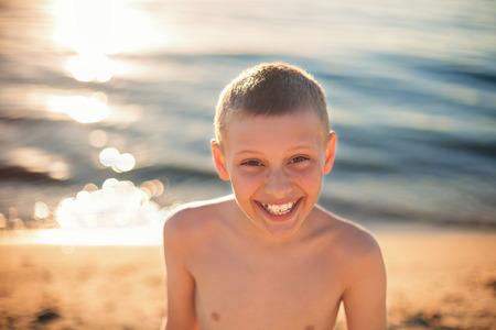 teeth braces: chhild boy happy smile with teeth braces