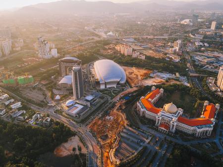 Sunset at Sri Hartamas, Kuala Lumpur, Malaysia from a drone
