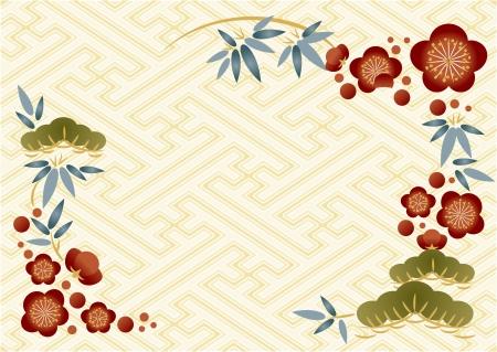 year        s: Capodanno s carta di pino, bamb�, e prugna